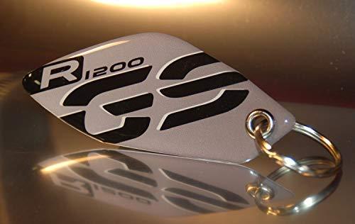 Portachiavi Mod_008 Resin 3d Per Bmw Gs R 1200 Grigio-nero