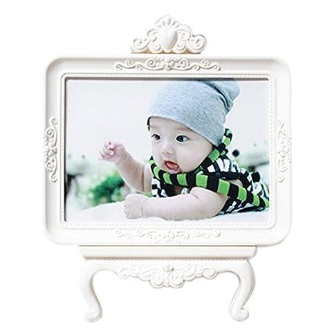 Cadres Photo Enfant - Landove Vintage et Shabby Chic Style Décoratif Crème Portrait Cadre Baroque 5 X 7 Inch