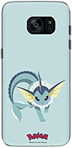 The Racoon Grip printed designer hard back mobile phone case cover for Samsung Galaxy S7 Edge. (vaporeon)