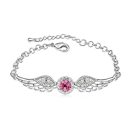 YOIL Elegant und Lina Dekoration Heißer Verkauf Kristall Armband Engelsflügel Diamanten Schmuck Für Valentinstag Geschenk (Rose)