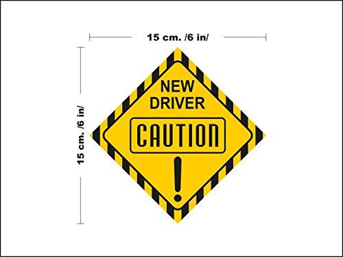 lepni.me N3129 Neuer Treiber Sicherheits-Zeichen Auto Abnehmbare Wandaufkleber Aufkleber Zimmer Neuer Treiber Junge Fahrer- Auto-Dekor