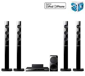 Samsung HT-E45505.1Channels 1000W 3d Noir système de home cinéma–équipement de Home Cinema (Lecteur de Blu-Ray, BD, CD, CD-R, CD-RW, DVD, DVD + R, DVD + RW, vidéo, DVD et CD audio, AVCHD, DivX, mKV, 5.1canaux, 1000W)