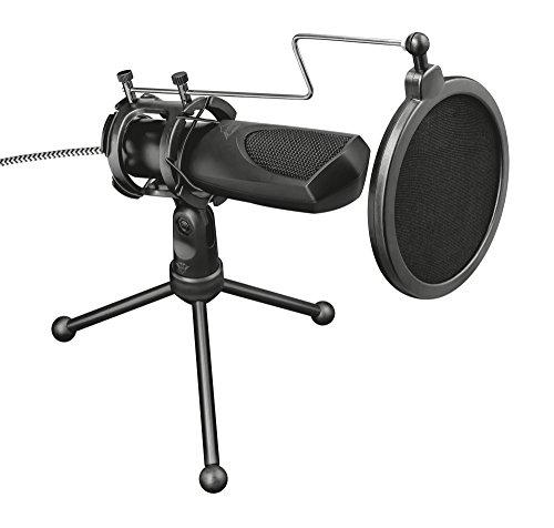 Trust GXT 232 Mantis USB-Streaming-Mikrofon Schwarz