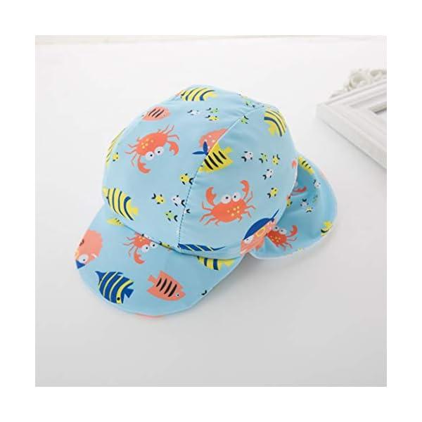 QIAODOUMADAI Summer Baby Boy Traje de baño + Sombrero 2 Unids Set Peces Mundo Marino Traje de baño Infant Toddler Kids… 4