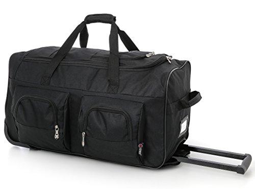 large-lightweight-wheeled-duffle-holdall-travel-bag-sports-bag-2-year-warranty-27-inch-black-black
