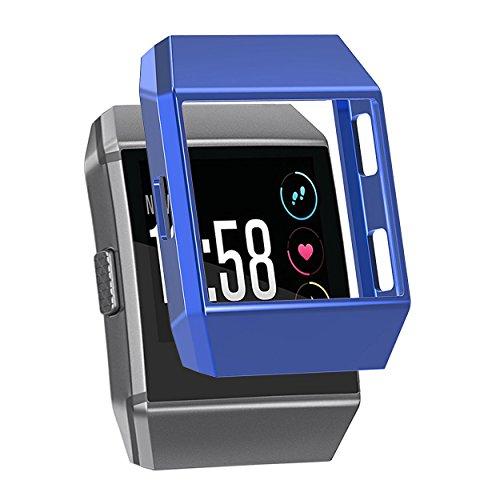 Blue-screen-band (Schutzhülle für Fitbit Ionic,SnowCinda TPU Weich Austausch Schutz Hülle Sport Fitness Ersatz Protection Zubehör für Fitbit Ionic Smart Uhren (Tief Blau))