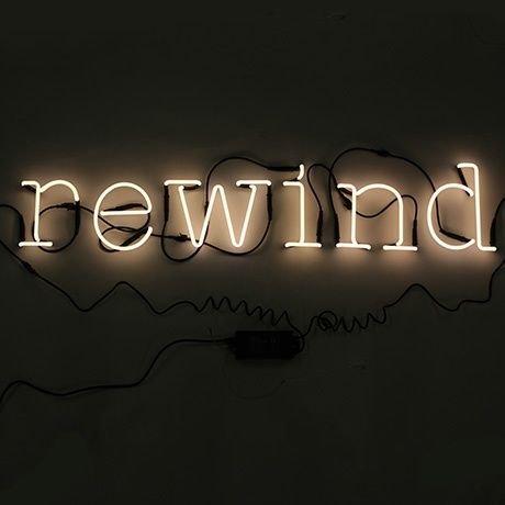 SELETTI 'Composition Rewind 6 Lettres Neon + Transformateur 01424 – 6 KV