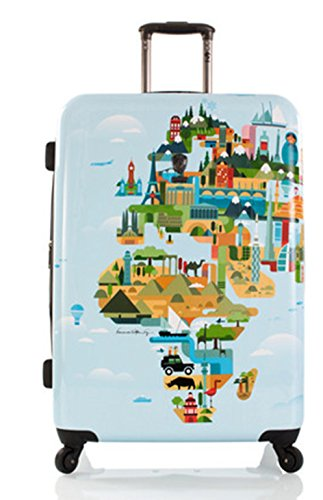 ... 50% SALE ... PREMIUM DESIGNER Hartschalen Koffer - Heys Künstler Fernando World Map - Trolley mit 4 Rollen Gross World Map