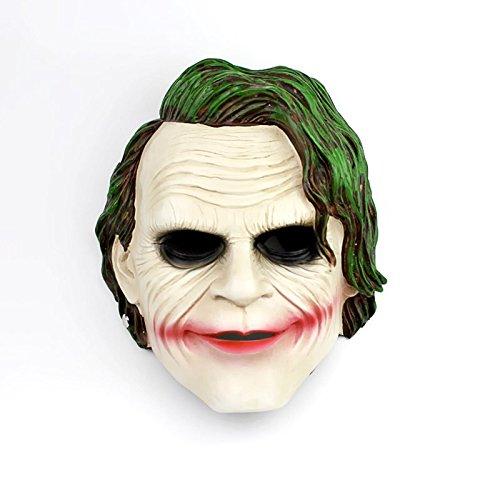 e Clown Maske Horror Maske Dark Night Knight Harz grünes Haar COS Maske verkleiden Sich Persönlichkeit Requisiten Masken ()