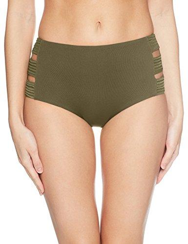 Seafolly Damen Seafolly High Waisted Quilted Pant Bikinihose,,per pack Grün (Dark Olive),36 (Herstellergröße: 10) -