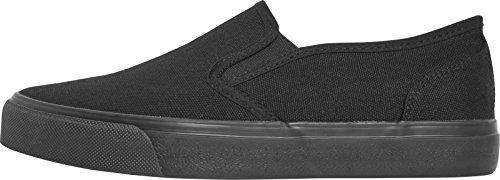 Urban Classics Unisex-Erwachsene Low Sneaker Slip on, Schwarz (Blk/Blk), 41 EU