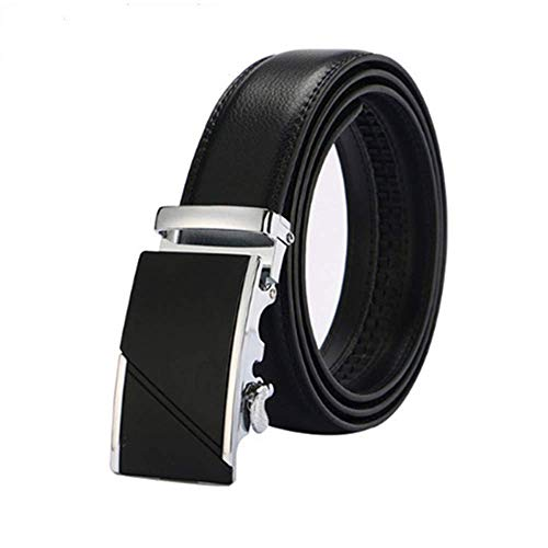 s New Genuine Leather Belts Metal Automatic Buckle Strap Male Jeans Cowboy ()