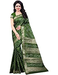 Nirja Creation Art Silk Bandhani Saree(NC-TD-1160_Green)