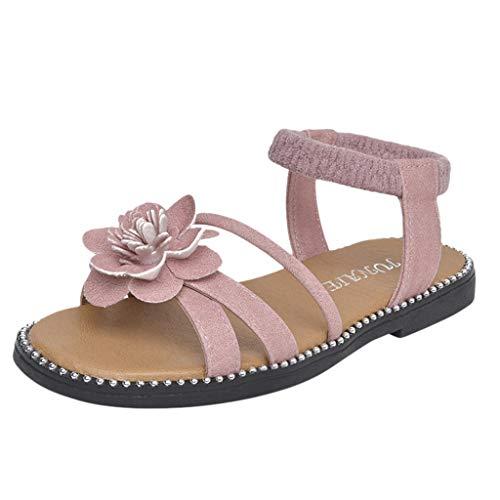 SANFASHION Mädchen Schuhe Sandalen Kleinkind Baby Blumen Beiläufige Prinzessin Kostüm Party Geburtstag ()