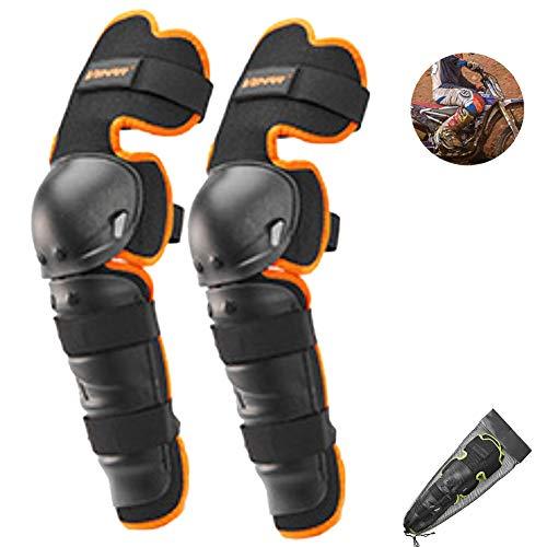 BLLJQ Knieschützer Für Motocross Ritter Anti-Fall Winddicht Knieschoner Schützend Ausrüstung (Zwei Knieschützer),Orange