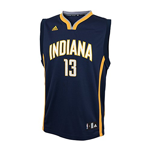 Paul George Indiana Pacers Youth Kinder Adidas NBA Replica Jersey Trikot - Blue (Replica Blue Jersey)