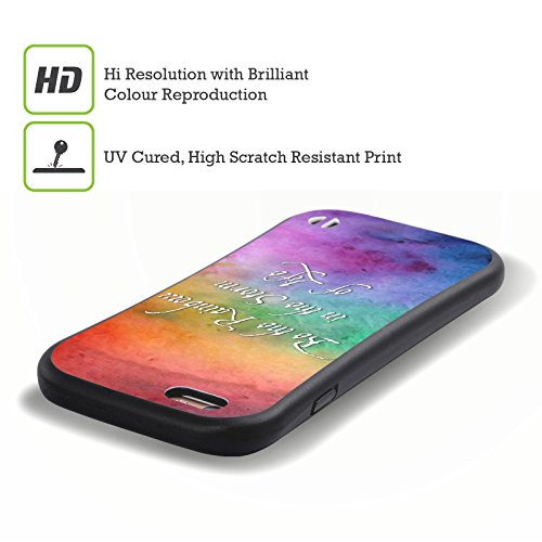Ufficiale Brigid Ashwood Esperienza Umana Ispirazionale 2 Case Ibrida per Apple iPhone 5 / 5s / SE Sii LArcobaleno