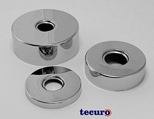 "tecuro Gewinderosette (3/4"") Ø 27 mm x Ø 80 mm x Höhe 20 mm, messing verchromt"