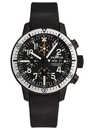 Fortis Herren-Armbanduhr B-42 Black Chronograph Datum Wochentag Analog Automatik 638.28.61 K