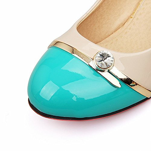 MissSaSa Donna Scarpe col Tacco Alto Elegante Elle blu verde