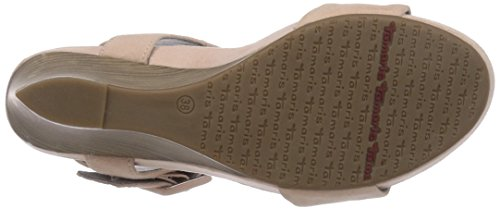 Tamaris 28356 Damen Offene Sandalen mit Keilabsatz Pink (Rose 521)