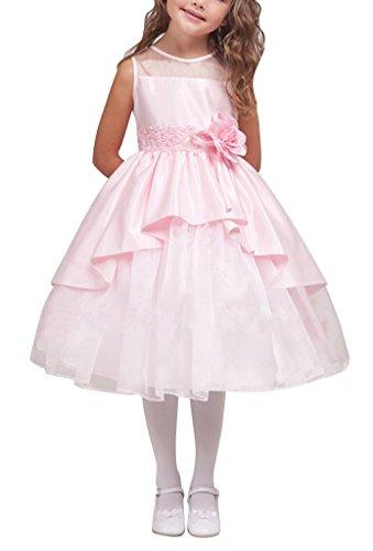 GEORGE BRIDE Flower Girl Dresses damigelle gonna bambini veste il vestito da sera 0079 ,3years,Pink
