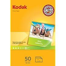 Kodak High Gloss - Papel fotográfico, A6, 10 x 15, 50 hojas
