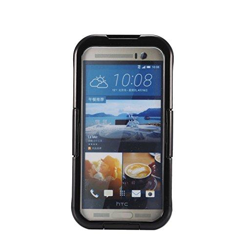 Ultra Thin-IP68Wasserdicht Schutzhülle Unterwasser Schnee stoßfest staubdicht vollständig versiegelt Schutzhülle für HTC One M9/M8/M7, Schwarz (Phone Number Search Uk)