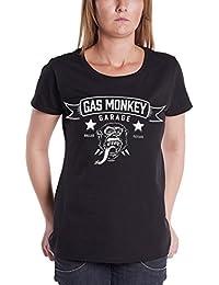 Gas Monkey Garage T Shirt Blood Sweat & Beers Oficial De Las Mujeres Nuevo