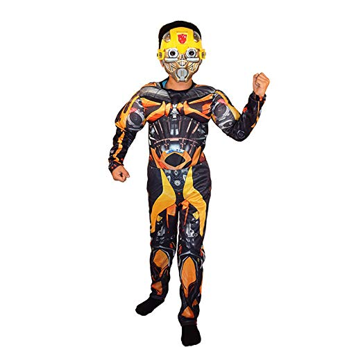 ASJUNQ d'halloween Costume Transformers Vêtements Optimus Prime Costume Hornet Muscle,Yellow-L