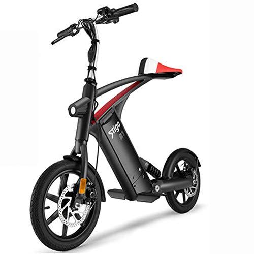 Hxl Bicicletas electricas Bicicletas de montaña Plegables con 36v10ah Litio extraíble Motor Potente de 250 w Moda y Bicicletas eléctricas...