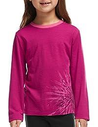 Icebreaker tech t-shirt à manches longues pour enfant à manches longues et col ras du cou chrysanthenum