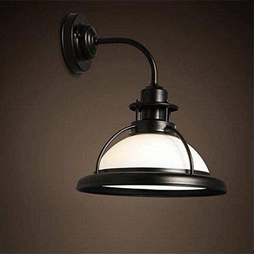 Applique murale GAODUZI Le Vent Industriel rétro Simple de Fer a mené la Lampe incurvée par LED de Lampe de Mur de Barre de Balcon d'allée (Couleur : Blanc, Taille : Lumière Blanche)