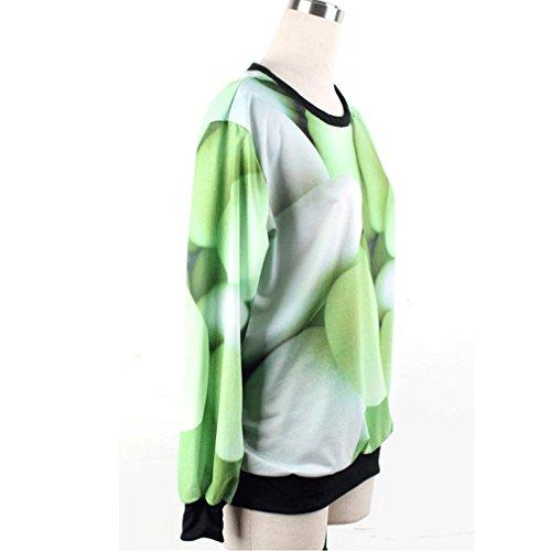Thenice Pull à imprimé numérique pour femme Sweat-shirt - Capsule