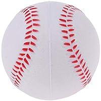 perfk Suave PU Sports Pelota para Entrenador Ejercicio Equipo de Entrenamiento - Color Opcional - Blanco