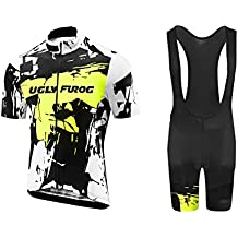 Uglyfrog 2018 Manga Corta Maillot+Bib Pantalones Cortos Bodies Ciclismo De Hombre Verano Ropa De Triatlon Transpirables Cycling Sets DXMZ01