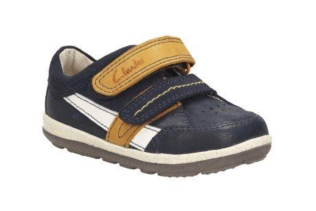 Clarks  Softlyzakk Fst,  Jungen Durchgängies Plateau Sandalen mit Keilabsatz , - Marineblau-Mix - Größe: 39 EU