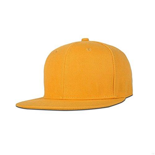 lach Baseball Cap Bill Uni Snapback Hüte Visier verstellbar Größe Hip-Hop Hat Vielzahl von Farben und Designs, All Yellow ()