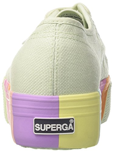 Superga Damen 2790-Cotmultifoxingw Sneaker Multicolore (Mint Multicolor)