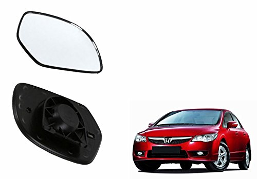 speedwav car rear view side mirror glass left-honda civic Speedwav Car Rear View Side Mirror Glass LEFT-Honda Civic 41escgQb9wL