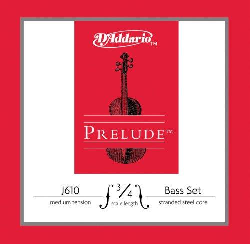 DADDARIO J610 3/4M PRELUDE BASS 3/4 SCALE SET (ORQUESTA) MEDIUM