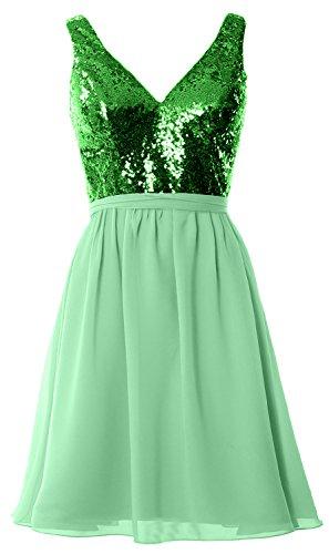 MACloth - Robe - Trapèze - Sans Manche - Femme Green-Mint