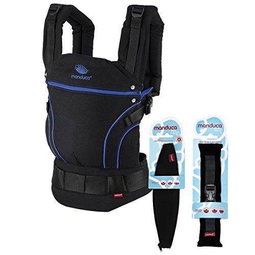 Manduca Porte-Bébé Blackline Premium Bundle   Blue   optimierte 3P-Boucle  de sécurité 638b5946e24