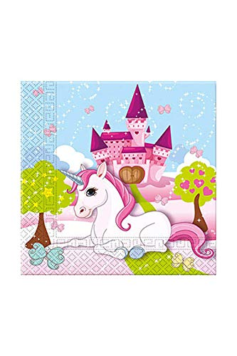 Procos 85673 Party Plato Unicornio, servilletas, One size