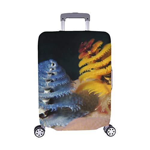 (Nur abdecken) Wilder Weihnachtsbaum Wurm Cayman Island Reef Muster Staubschutz Trolley Protector case Reisegepäck Beschützer Koffer Cover 28,5 X 20,5 Zoll