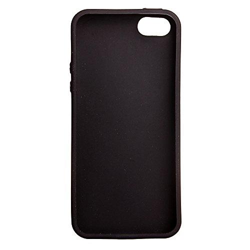 iPhone 5S / iPhone SE Hülle, Voguecase Silikon Schutzhülle / Case / Cover / Hülle / TPU Gel Skin für Apple iPhone 5 5G 5S SE(Galvanisches Webmuster -schwarz) + Gratis Universal Eingabestift Galvanisches Webmuster - rot