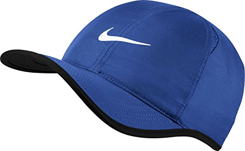 Nike U NK AROBILL FTHRLT Hat, Game royal/Black/White, One Size Tennis Hat
