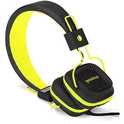 [Cable] NGS Gumdrop - Auriculares de diadema cerrados, color negro y amarillo