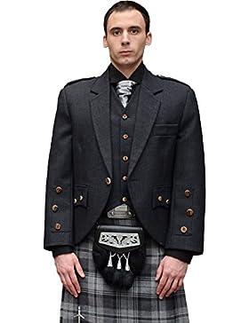 I Luv LTD Araca Fashion Tweed Jacket With 5 Button Waistcoat