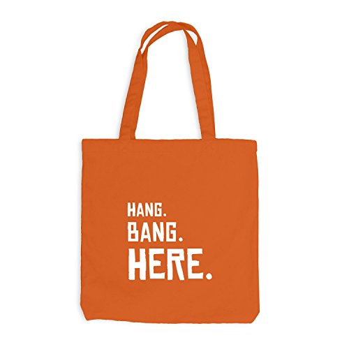 Jutebeutel - Hang. Bang. Here. - Party Fun Oktoberfest Wiesn Orange